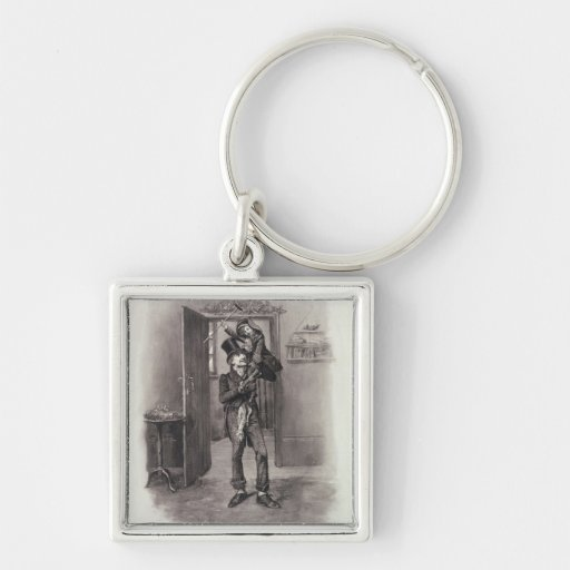 Bob Cratchit and Tiny Tim, from 'Charles Dickens: Key Chain