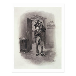 Bob Cratchit and Tiny Tim, from 'Charles Dickens: Postcard