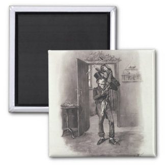 Bob Cratchit and Tiny Tim, from 'Charles Dickens: Square Magnet