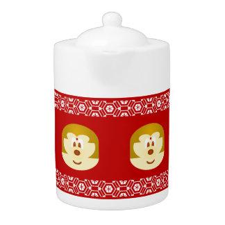 Bob Hair Lady 鮑 鮑 - Medium Teapot