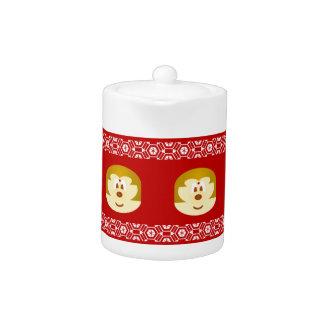 Bob Hair Lady 鮑 鮑 - Small Teapot