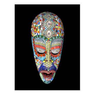 Bob, Why the Long Face? Mosaic Mask Post Cards