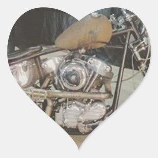 bobber bike heart sticker