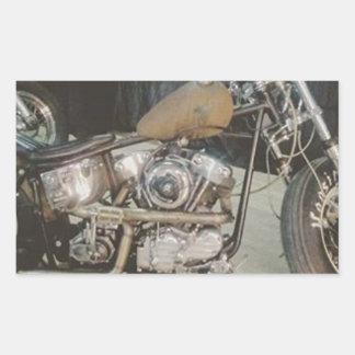 bobber bike rectangular sticker