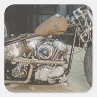 bobber bike square sticker