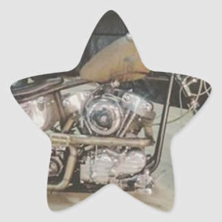 bobber bike star sticker