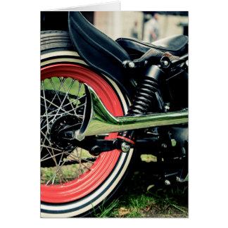 Bobber Harley Motorcycle Biker Birthday Card