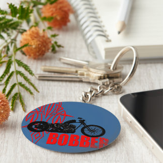 Bobber Motorbike Key Ring
