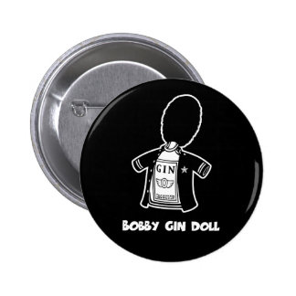 Bobby Gin Doll 6 Cm Round Badge