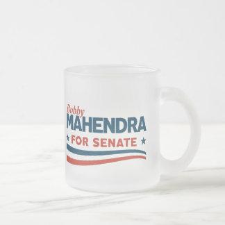 Bobby Mahendra for Senate Frosted Glass Coffee Mug