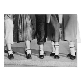 Bobby Socks, 1953 Greeting Card