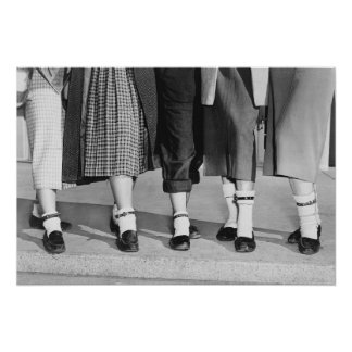 Bobby Socks, 1953. Vintage Photo Poster