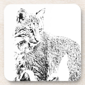 Bobcat Portrait Coaster