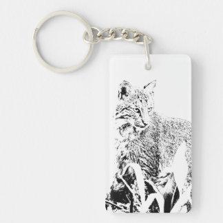 Bobcat Portrait Keychain