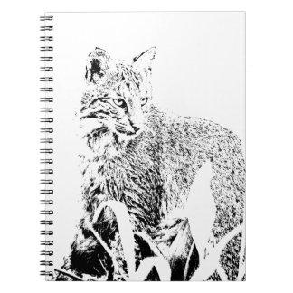 Bobcat Portrait Notebook