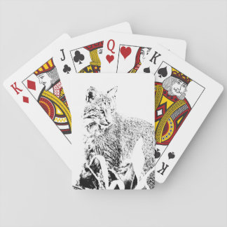 Bobcat Portrait Playing Cards