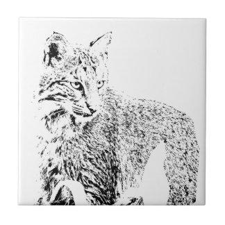 Bobcat Portrait Tile