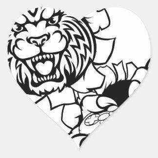 Bobcat Wildcat Esports Gamer Mascot Heart Sticker