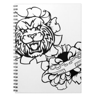 Bobcat Wildcat Esports Gamer Mascot Notebook