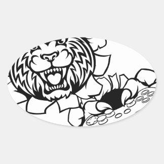 Bobcat Wildcat Esports Gamer Mascot Oval Sticker