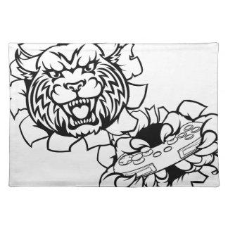 Bobcat Wildcat Esports Gamer Mascot Placemat