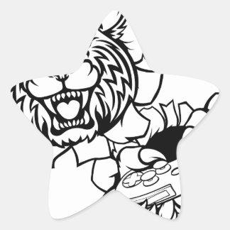 Bobcat Wildcat Esports Gamer Mascot Star Sticker