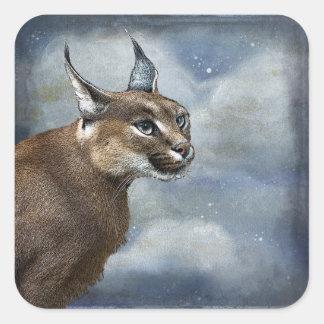 Bobcat Wildlife Square Sticker