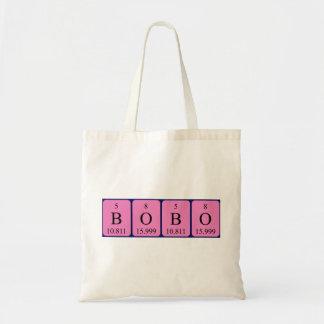 Bobo periodic table name tote bag