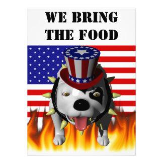 Bobo Show s his patriotism Personalized Invites