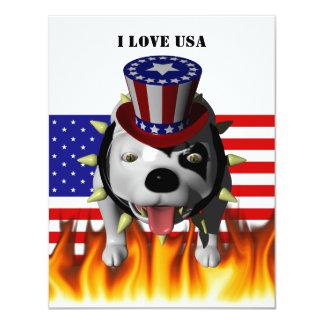 Bobo Show's his patriotism 11 Cm X 14 Cm Invitation Card