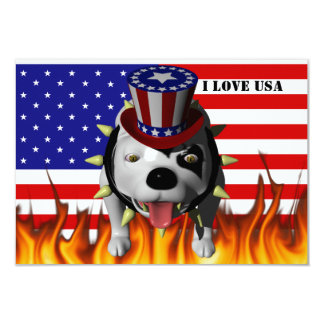 Bobo Show's his patriotism 9 Cm X 13 Cm Invitation Card