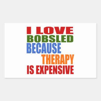 Bobsled Designs Rectangular Sticker