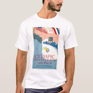 Bobsled Olympic Lake Placid 1938 WPA T-Shirt