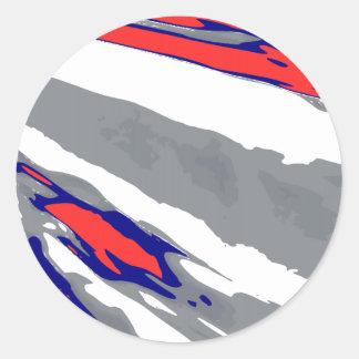 Bobsleigh Round Sticker