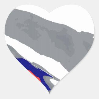 Bobsleigh Heart Sticker