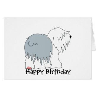 Bobtail Sheepdog Card