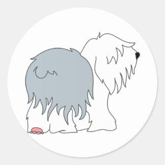 Bobtail Sheepdog Classic Round Sticker