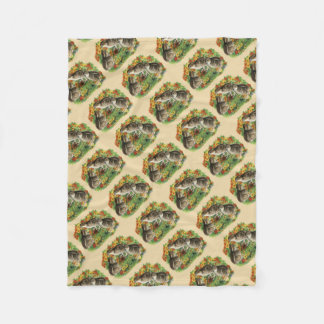 Bobwhite Garden Chicks Fleece Blanket