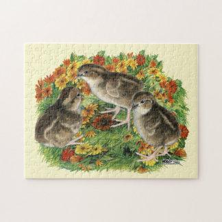 Bobwhite Garden Chicks Jigsaw Puzzle