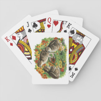 Bobwhite Garden Chicks Playing Cards