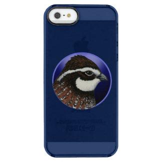 Bobwhite Quail Head Circle Clear iPhone SE/5/5s Case