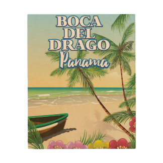Boca del Drago Panama Beach travel poster