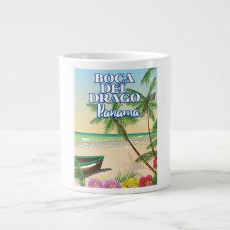Boca del Drago Panama Beach travel poster Large Coffee Mug