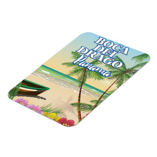 Boca del Drago Panama Beach travel poster Rectangular Photo Magnet