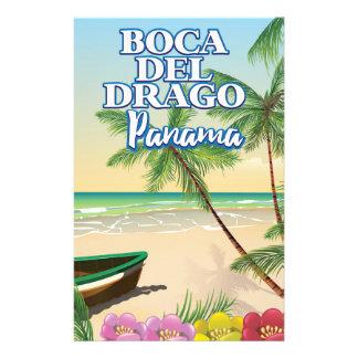 Boca del Drago Panama Beach travel poster Stationery
