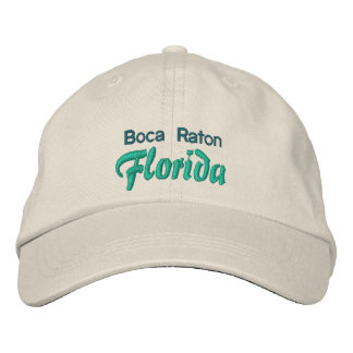 BOCA RATON 1 cap Embroidered Baseball Cap