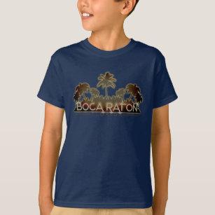 Boca Raton Florida palm tree letters kids tshirt
