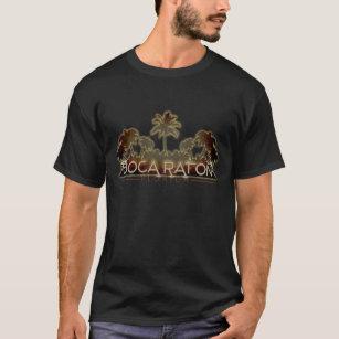 Boca Raton Florida palm tree letters mens shirt