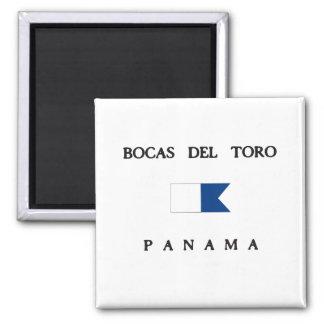 Bocas Del Toro Panama Alpha Dive Flag Square Magnet
