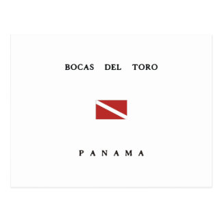 Bocas Del Toro Panama Scuba Dive Flag Postcard